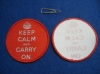"20pcs ""Keep Calm and Carry On"" Woven Labels Badge"